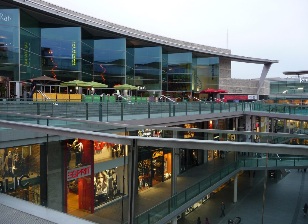 On terrace of Liverpool ONE