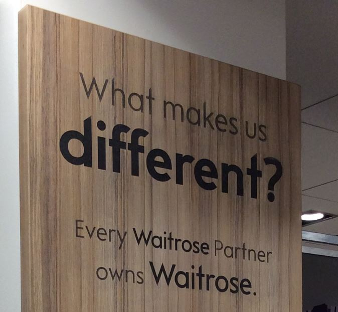 Waitrose Values Message